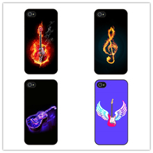 Fire guitar phone Case Cover for iphone 4 4s 5 5s 5c SE 6 6s plus 7 7 plus(China)