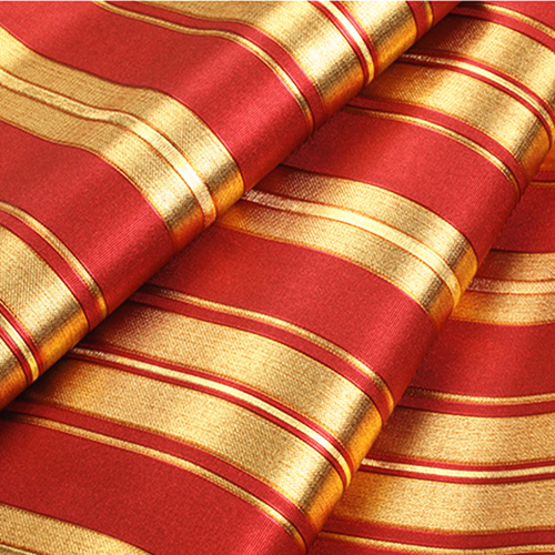 Modern Luxury Gold Red Striped Wallpaper 3D Embossed Gold Foil Wallpaper Roll<br>