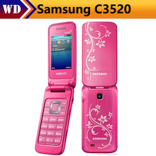 Samsung C3520 Original Unlocked 2.4 Inch English Keyboard 3G WCDMA Flip Phone Refurbished Cellphone High Quality English Languag(China)