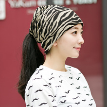 Women's Winter Hats Zebra striped Pattern Beanies Winter Scarf Knitted Hat Hip-hot Skullies girls Gorros women Beanies(China)