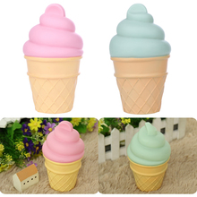 New Novelty Ice Cream Cone Shaped Night Light Desk Table LED Lamp Kids Children Bedroom Desk Table Lights Free Shipping