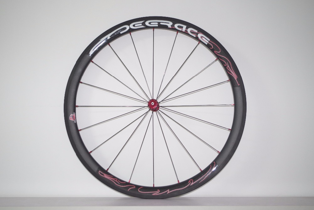 40mm aero carbon wheel set tubeless clincher