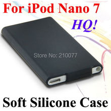 HQ Soft Silicone Rubberized Case Cover Slim Skin For Apple iPod Nano 7 7th Gen(Black)