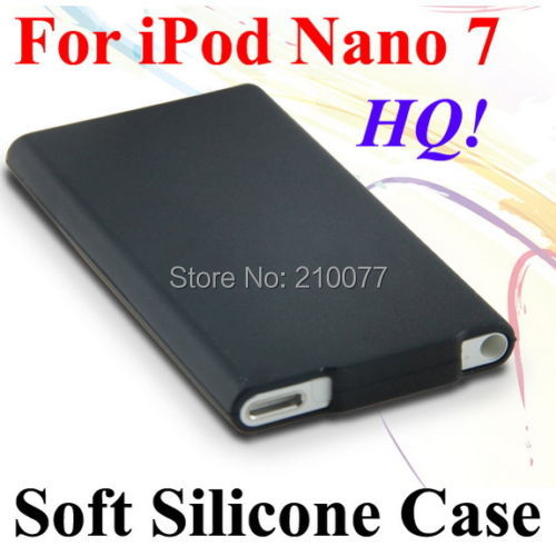 HQ Soft Silicone Rubberized Case Cover Slim Skin For Apple iPod Nano 7 7th Gen(Black)(China (Mainland))