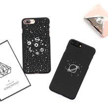 2017 Luxury Matte Hard Full Icluded Black Universe Star Space Cell Phone Case Cover for iPhone 6 6s 6plus 7 7plus Capa Wholesale