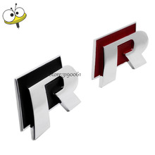 Auto Accessories 3D Emblem Badge Car Styling Decal Rline For Volkswagen Sagitar Touareg Polo Golf Tiguan Passat Magotan Beetle(China)