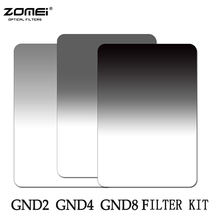 Zomei Soft Square 100*150mm Graduated ND2 ND4 ND8(0.3-0.9)Neutral Density Filter Kit For Cokin Z Series 150*100mm(China)