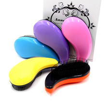 colorful creative hair combs anti - static hair straight hair comb gift comb plastic comb easy taking makeup beauty 21014