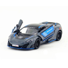 1:36 Scale KINSMART 675LT Sports Car Model Toy Die cast & ABS Racing Cars For Boys Pull Back Vehicle Models Kids Toys Juguetes