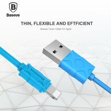 Original Baseus 1m for Apple lightning to USB cable for iPhone 5 se 5c 6s plus 7p black Phone charging line for ipad pro durable