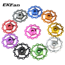 EKFan 11T Aluminum Alloy MTB Bicycle Rear Derailleur Pulley Jockey Wheel Road Bike Guide Roller Idler Part Cycling Accessory(China)