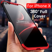Luxury Shockproof Phone Cases For iphone X Case 10 Plastic Hard 360 Degree Full Protection Back Shell For Apple iPhone X Cover(China)