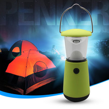 Oobest Portable USB LED Tents Light Hand Crank Dynamo Rechargeable Camping Lantern Flashlights Fishing Light Outdoor