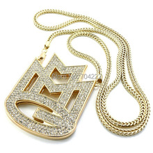 "new ICED out MAYBACH MUSIC GROUP MMG Pendant & 36""Franco chain maxi necklace hip hop necklace EMEN'S chokers necklace jewelry"