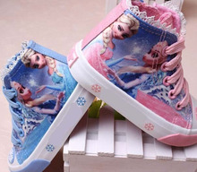 Baby Girls trainer boy tenis cartoon anna elsa Shoes Toddler Sports Boots Kids Sneakers Children Cartoon Flats child shoe(China)