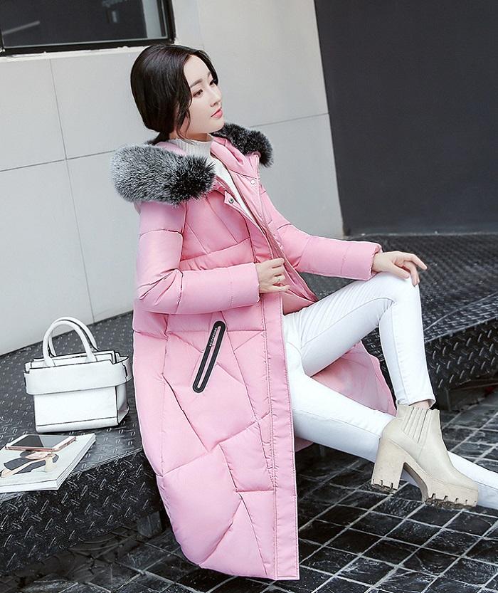 2017 Winter Women Coat Thicken Warm Long Jacket women coat girls long slim big coat jacket Down Parka+10 (2)