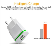 5V 2.1A Smart Travel USB Charger Adapter EU Plug Mobile Phone Xiaomi Hongmi 1s Mi 4 4c XOLO Era 2X +Free usb type C cable - E-Keao Store store