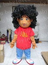 2017 New high quality Curly Hair girl mascot costume advertising school mascot marketing fursuit party fancy dress luck costume