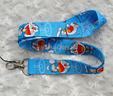 Small Wholesale New 20pcs Doraemon key lanyard id badge holder keychain straps for mobile phone Free Shipping C-55(China)