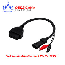 for FIAT for Lancia for Alfa for Romeo 3 Pin 3Pin Male to OBD OBD2 OBDII DLC 16 Pin 16Pin Female Car Diagnostic Tool
