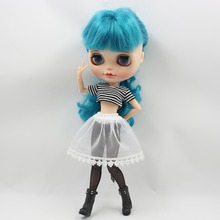 Free shipping for icy blyth doll licca cool outfit short shirt black leggings underwear Yarn skirt 1/6 30cm gift toy