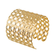 Punk Rock Pop Fashion 2017 Women's Punk Style Gold Bangles Charm Hollow Cuff Bangle Bracelet for Women Party Summer Jewelry