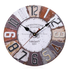 Wooden Wall Clock Retro Style Home Decor for Living Bed Room With  Natural Wood Material Wall Clock