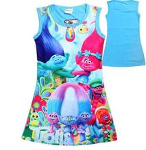 New Children Dress Clothing Summer Dresses Girls Baby Pajamas Costume Cartoon Princess Nightgown Vestidos Infantis Clothes