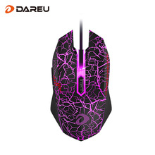 Dareu EM915 Professional Wired Gaming Mouse 7 Button LED Backlight 4000 DPI Optical USB Gamer Computer Mice LOL for PC Laptop(China)