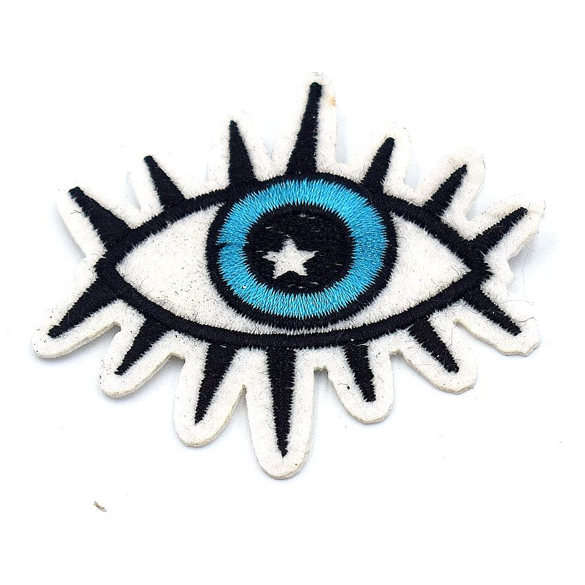 Eye Eyeball Tattoo Biker Punk Embroidered Applique Sequin Iron On Patch Badge RS