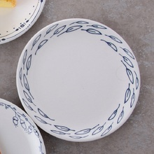 Creative Dinner Plates Ceramic Plates 8*inch Dinnerware Porcelain Flat Plates Pastry Cake Tray Party Plate Dishes Fruit Dish
