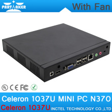 4G RAM ONLY Cheap linux embedded thin client MINI PC with Intel Celeron 1037U dual core 1.8GHZ