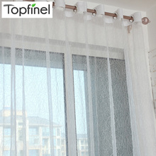 Hot sale bird nest modern tulle for windows sheer curtains for living room the bedroom kitchen blinds embroidered curtain fabric(China)