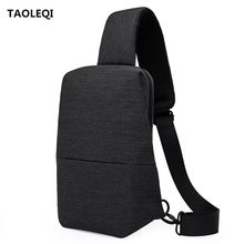 TAOLEQI Unisex Men Messenger Bag Chest Pack Brand Design Korean and Japan Style Simple Women Shoulder Cross Body Bags for Ipad(China)