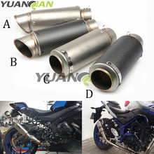 61mm 51MM motorcycle GP Exhaust muffler SC Muffler Exhaust Escape for yamaha YZF R125 R15 R25 r 125 15 25 mt-07 mt-09 mt 07 09