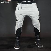 WZZAE Top Quality Fitness/Casual Men Joggers Pants 2017 Brand Muscle / Brothers Trousers Men's Stitching Color Plue Size M-XXL(China)