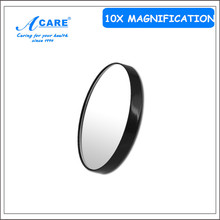 1Pc ACARE 10X Makeup Mirror Pimples Pores Magnifying Mirror With Two Suction Cups Makeup Tools Round Mirror Mini Mirror