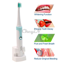 30000/min Kemei Rechargeable Electric Toothbrush + 4 Heads Smart Waterproof Ultrasonic Toothbrush Oral Hygiene Dental Care D1347