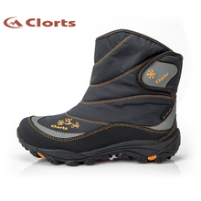 Clorts Women Hiking Winter Boots Waterproof Fur Outdoor Snow Boots Anti-slipping Warm Hiking Boots SNBT-203A/B(China)