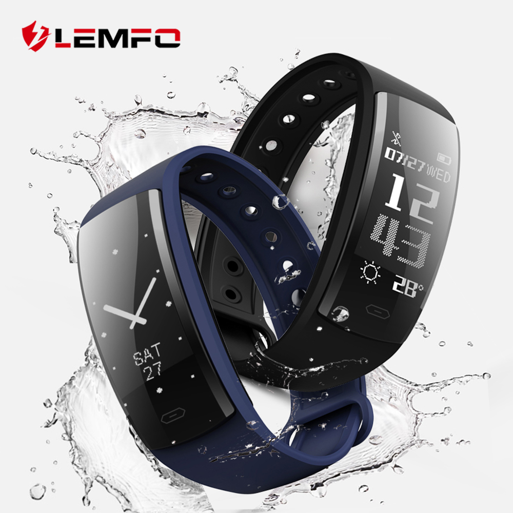 LEMFO QS90 Smart Wristbands Fitness Bracelet Blood Pressure Smart Bracelets Heart Rate Monitor Fitness Bracelet Band Waterproof
