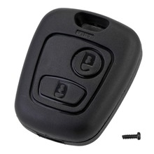 2 Button Remote Key Car Key Fob Case Replacement Shell Cover for Citroen C1 C2 C3 C4 XSARA Picasso Peugeot 107 207 307 D05(China)