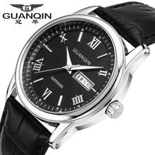 Original Brand GUANQIN Quartz Watch Men luxury Brand Wristwatch 2014 New Fashion Casual Leather Strap Watch For Men(China)