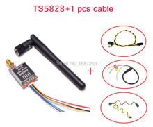 FPV 5.8G TS5828 600mW 48 Channels Mini Wireless A/V Transmitter TX + AV Video Output Cable for SJ4000 Gopro Xiaomi FPV