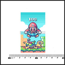 Min.order is $10(mix order)Exclusive Super M ario games pixel style Notebook Car Styling Personalized Laptop Sticker[Single](China)