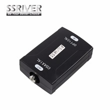 SSRIVER Optical Toslink input To Coaxial RCA Output Jack Digital Audio Converter Adapter to Transform Audio Format(China)