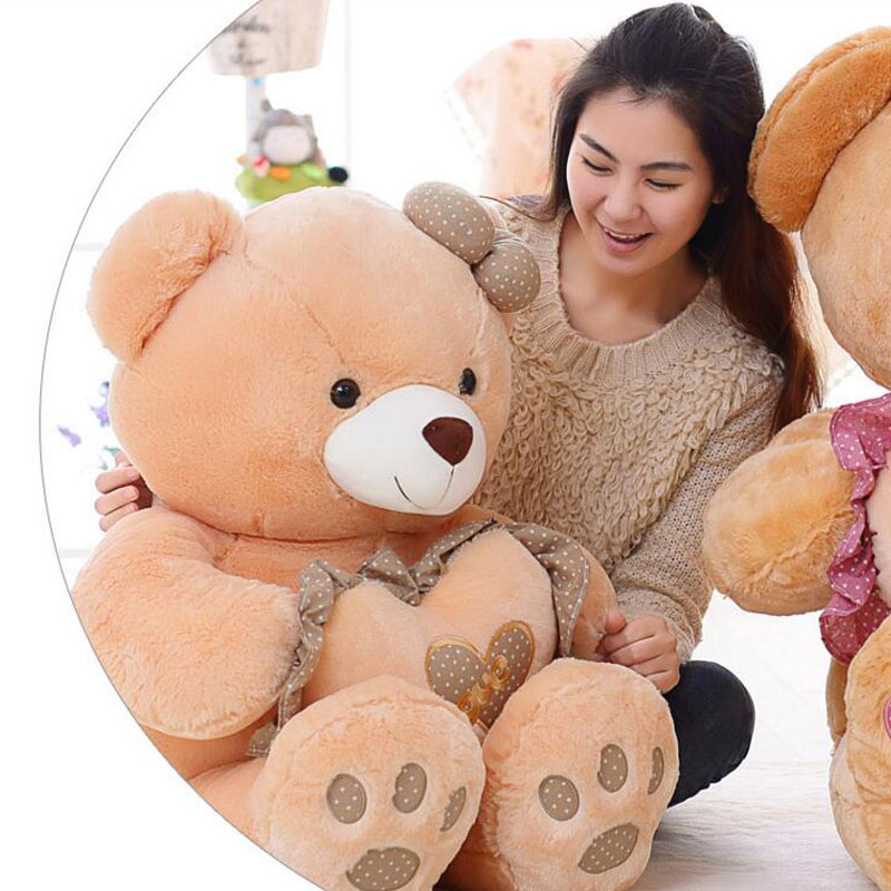 90CM LOVE Embroidered Bear Doll Plush Toy Teddy Bear Stuffed Plush Toys  Soft Baby Cushion Pillow Toy For Valentines Gift <br><br>Aliexpress