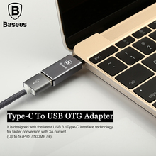 Baseus USB Type C Male to USB 3.1 Female OTG Adapter Type-C Converter For Macbook Samsung Huawei Xiaomi USB OTG Charger Adapter