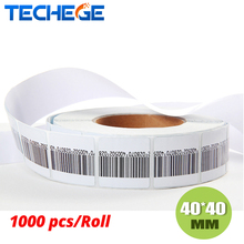 1000pcs CHECKPOINT tags 8.2 MHz RF SOFT Label 40mm*40mm EAS Tag(China)