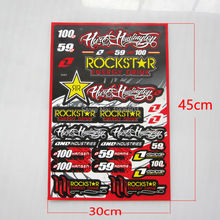 ROCKSTAR Free shipping ATV decals graphics moto stickers wholesale Cheap motocross scooter available