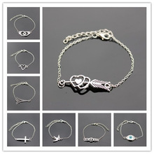 Bulk Sale Price Promotion Different Shape Metal Bracelets For Women Men Lovers Bracelet & Bangles Good Birthday Gift For Love